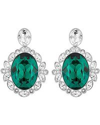 Swarovski | Green Brazil Pierced Earrings | Lyst