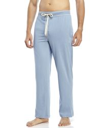 Original Penguin - Blue Drawstring Knit Lounge Pants for Men - Lyst