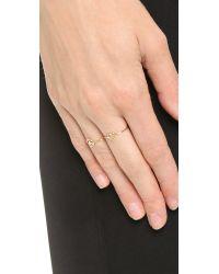 Aurelie Bidermann Metallic Love Ring