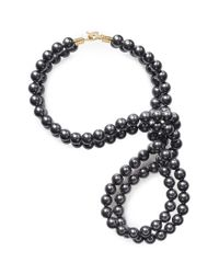Stella McCartney | Black Swarovski Pearl Wire Necklace | Lyst