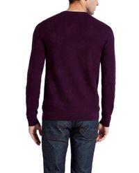 Ted Baker | Purple Feelix Jacquard Crew Neck Jumper for Men | Lyst