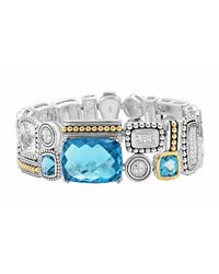 Lagos | Metallic Montage Blue Stone & Diamond Bracelet | Lyst