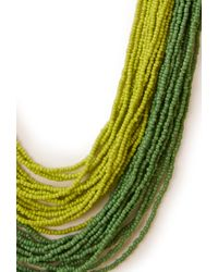 Forever 21 | Green Well Traveled Beaded Necklace | Lyst