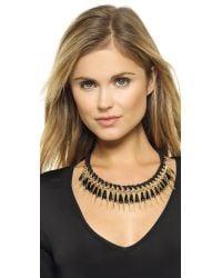 Adia Kibur - Statement Choker Necklace - Black/Gold - Lyst