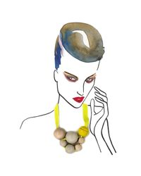 Marion Vidal | Gray Neo Ceramic Necklace | Lyst