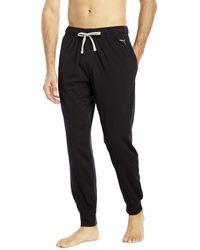 PUMA - Black Jogger Lounge Pants for Men - Lyst