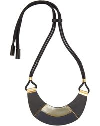 Marni - Black Leather Necklace - Lyst
