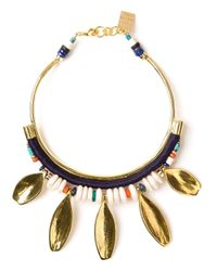 Lizzie Fortunato | Metallic Petal Charm Collar Necklace | Lyst