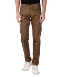 Carhartt | Brown Denim Trousers for Men | Lyst