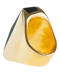 Wouters & Hendrix | Metallic Chunky Art-deco Ring | Lyst
