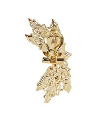 Anton Heunis | Metallic Pale Gold Plated Dragonfly Earrings | Lyst