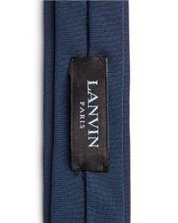 Lanvin - Blue Faille Skinny Tie for Men - Lyst