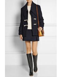 See By Chloé | Black Textured-Leather Knee Boots | Lyst