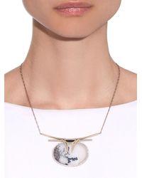 Monique Péan - Diamond, Jade, Agate & White-Gold Necklace - Lyst