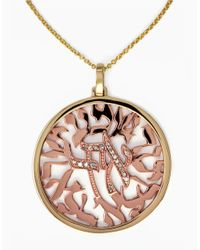 Effy | Pink 14k Yellow And Rose Gold Diamond Pendant Necklace | Lyst