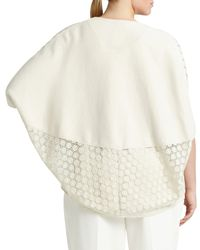 Lafayette 148 New York - Natural Medallion-lace Knit Cardigan - Lyst