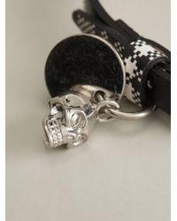 Alexander McQueen | Black Skull Charm Bracelet for Men | Lyst
