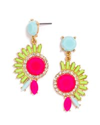 BaubleBar - Pink Electric Mohawk Drops - Lyst