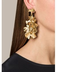 Aurelie Bidermann | Metallic Ginkgo Earrings | Lyst