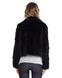 Marc By Marc Jacobs - Black Abbey Rabbit Fur Jacket - Lyst
