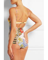 Dolce & Gabbana - Multicolor Printed Underwired Swimsuit - Lyst