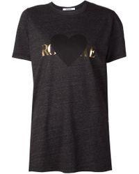 Rodarte Black Logo Print T-shirt