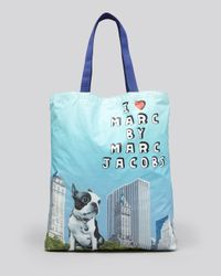 Marc By Marc Jacobs Blue Tote Jet Set Pets Graphic Olive City