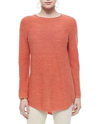 Eileen Fisher - Orange Merino Tunic Sweater - Lyst