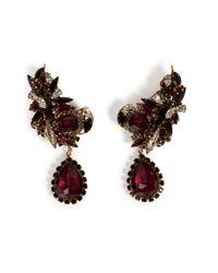 Erickson Beamon | Red Queen Bee Ear Earrings in Burgundy | Lyst