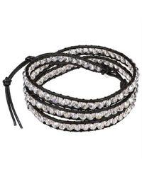 Aeravida | Black Pink Crystal Muse Crystal Trendy Triple Wrap Leather Bracelet | Lyst