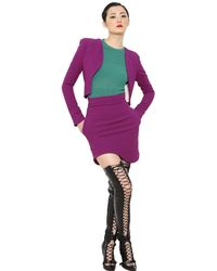 Antonio Berardi Purple Viscose Blend Cady Jacket
