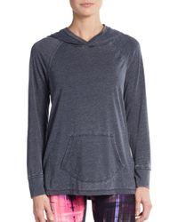 Calvin Klein - Blue Burnout Hooded Sweater - Lyst