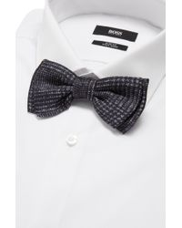 BOSS Gray 'bow Tie Fashion' | Silk Patterned Bow Tie for men