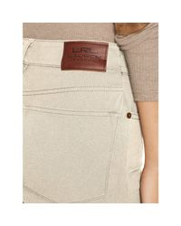 Ralph Lauren - Natural Sueded Straight Jean - Lyst