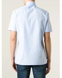 Lanvin - Blue Short Sleeve Shirt for Men - Lyst