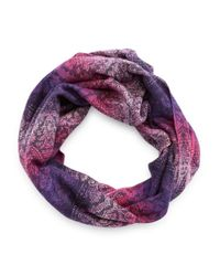 Lord & Taylor | Purple Tonal Patterned Infiniti Scarf | Lyst