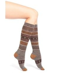 Smartwool | Brown 'pine Glass' Merino Wool Blend Knee Socks | Lyst