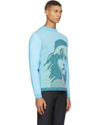 KENZO Pink And Blue Knit Les Miserables Sweater for men
