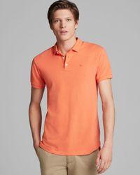 Marc By Marc Jacobs Orange Slim Fit Logo Polo for men