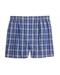 Brooks Brothers - Blue Slim Fit Blanket Plaid Boxers for Men - Lyst