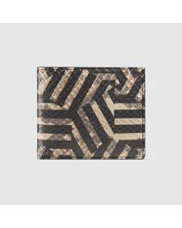 Gucci - Multicolor Gg Caleido Python Wallet for Men - Lyst