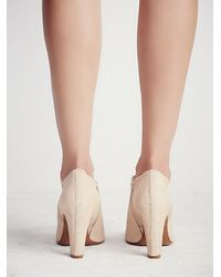 Free People | White In The Spirit Heeled Ankle Boot | Lyst