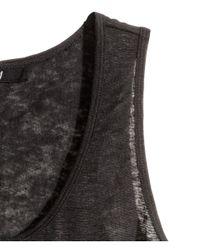 H&M Black Linen Vest Top