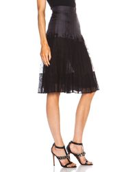 Givenchy | Black Lace Pleated Skirt | Lyst
