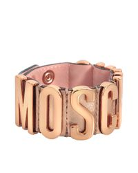 Moschino - Pink Lettering Bracelet - Lyst
