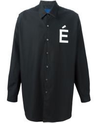 Etudes Studio - Black Logo Print Shirt for Men - Lyst