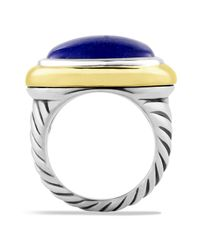 David Yurman Blue Waverly Ring With Lapis Lazuli & Gold