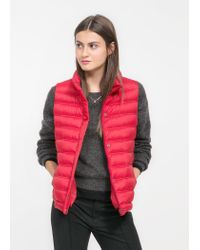 Mango | Red Foldable Feather Down Gilet | Lyst