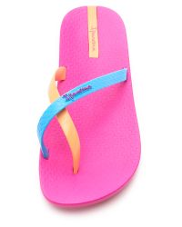 Ipanema Neo Mix Flip Flops - Pink/blue/orange