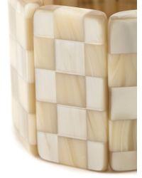 Giorgio Armani | Natural Checkboard Bracelet | Lyst